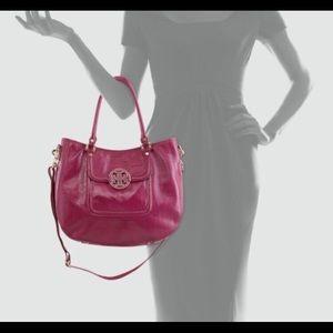 Tory Burch Pink Amanda Crossbody Hobo Bag